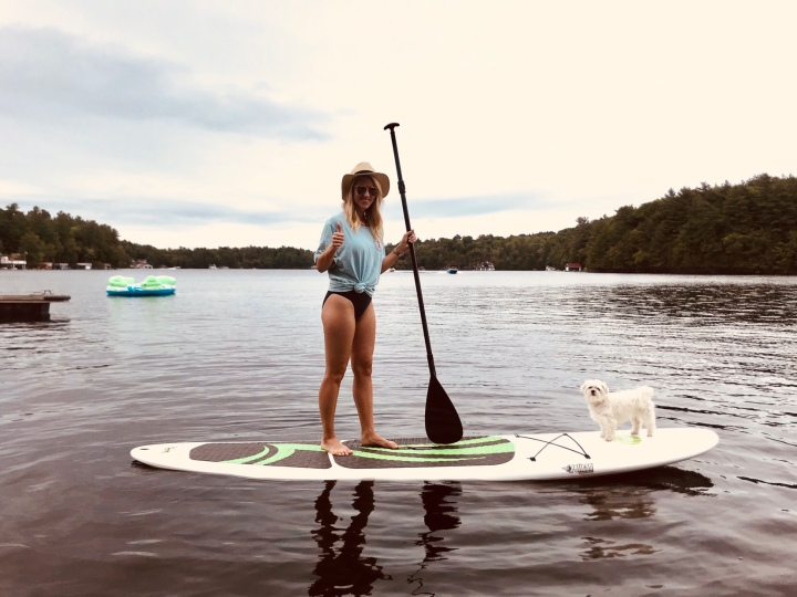 Taking Yoga & the Paddle-board to the Lake